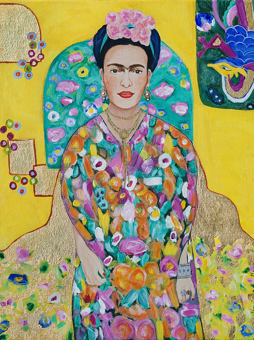 Channeling Klimt-Frida