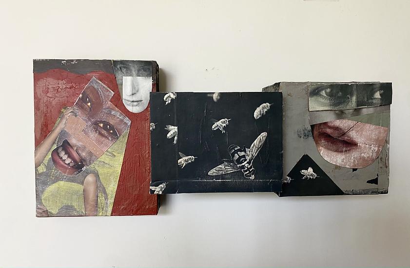 "Jan Auleta- ""Collage Wall Sculpture #1"""