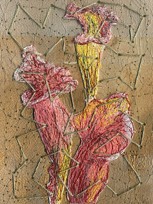 "Nonney Oddlokken- ""Pitcher Plant (diptych) $900 or ($500 each)"""