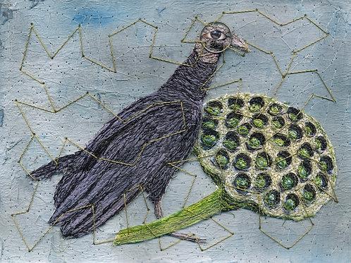Nonney Oddlokken- Turkey Vulture with Lotus $650