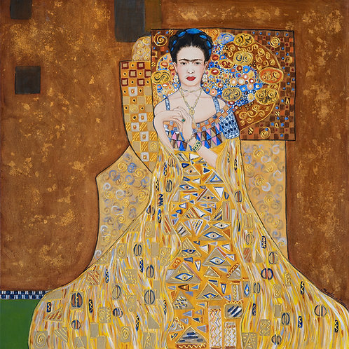 "Cheryl Anne Grace- ""Channeling Klimt~Frida"""