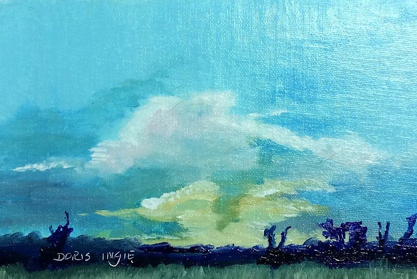 "Doris Ingle- ""Evening Sky Over Waveland"""