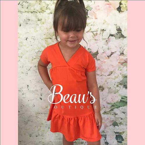 Orange Stretchy Dress