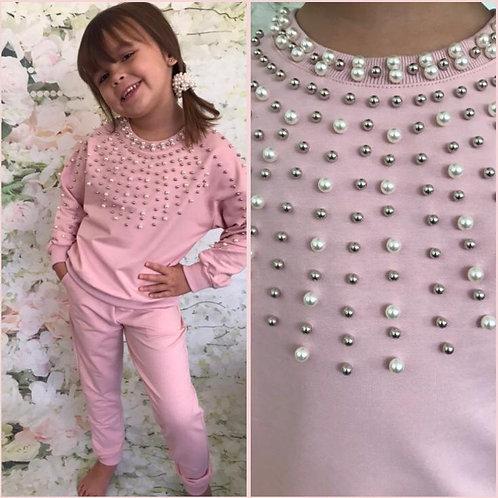 Baby Pink pearl Lounge set