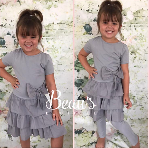 Grey short sleeve lounge set