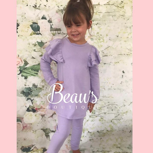 Lilac Ruffle Lounge Set