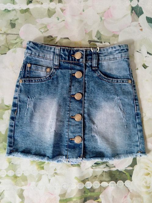 Denim stretchy skirt