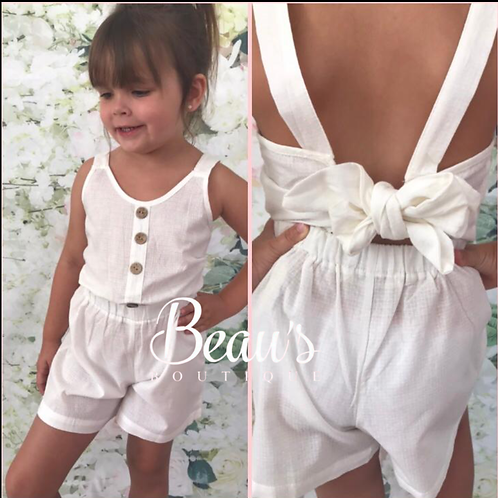 White Light Weight Playsuit