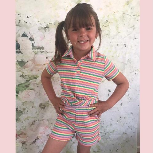 Stripe Shorts Set