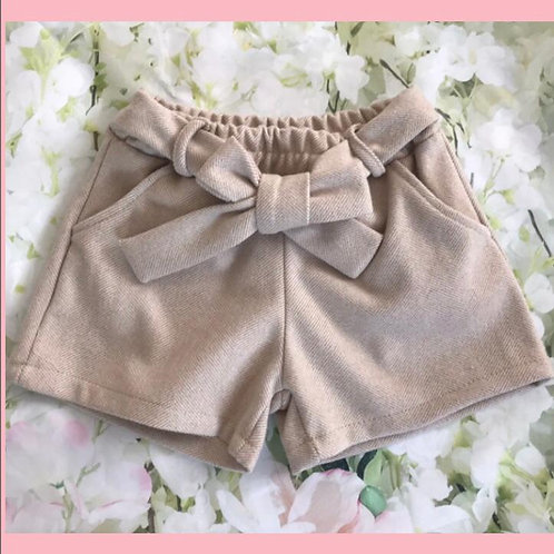 On trend stylish Cream shorts