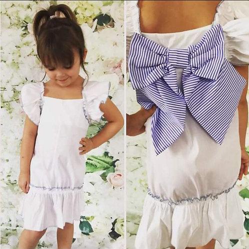 Light weight white cotton dress