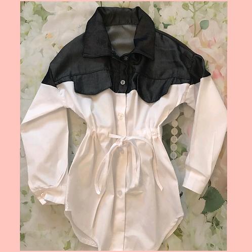 Denim/White Shirt