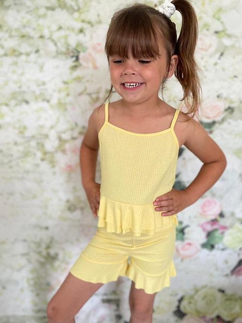 Yellow Shorts Set