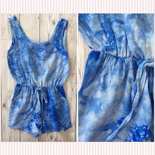 Blue tie dye Playsuit
