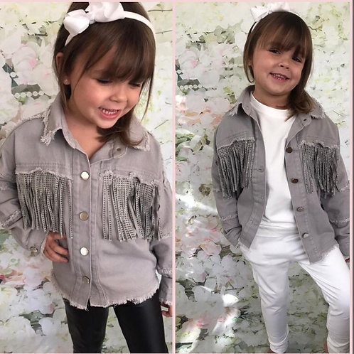 Grey Tassel Denim Jacket