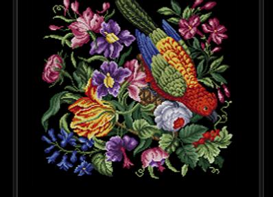Floral Basket in Parrot
