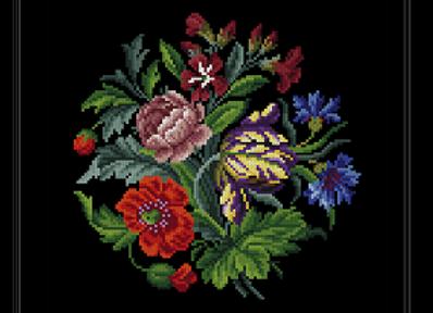 Antique  Flowers Bouquet