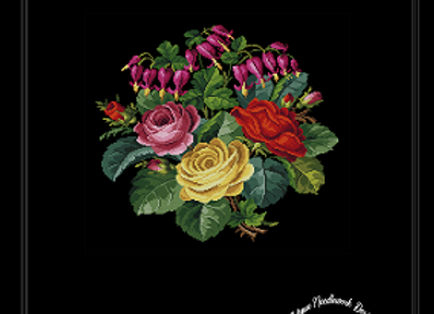 Bleeding Hearts and Roses Bouquet