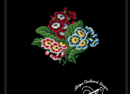 Antique Berlin Primroses Pattern