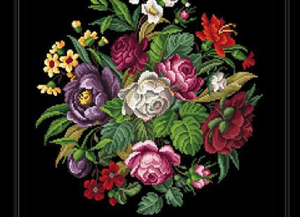 Antique Berlin  Floral Bouquet