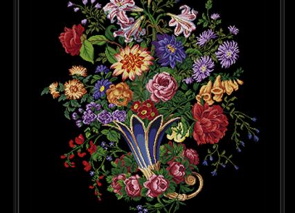 Antique Floral  Vase