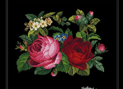 Antique Floral Purse