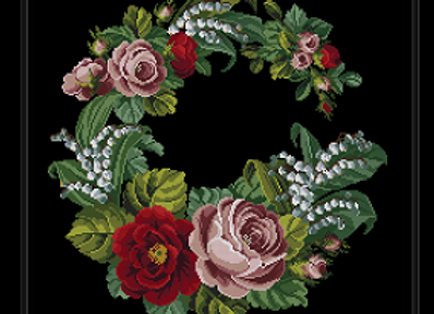 Antique Wreath Flowers
