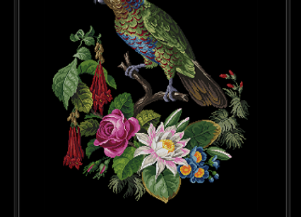 Berlin, Parrot with Flowers