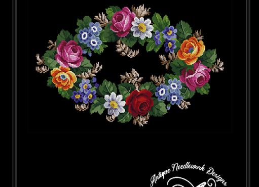 Antique Floral Oval Bouquet