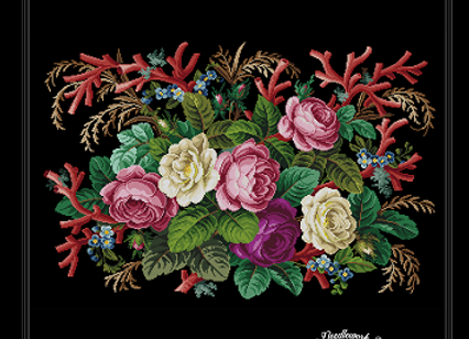 Antique Floral Tapestry,Rug