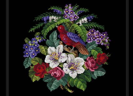 Floral Display With Bird