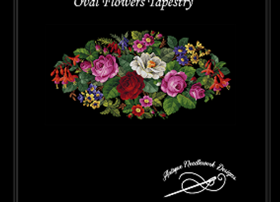 Oval Flowers Tapestry