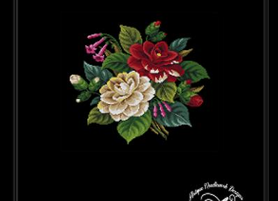 Dahlia and Fuchsia Flowers