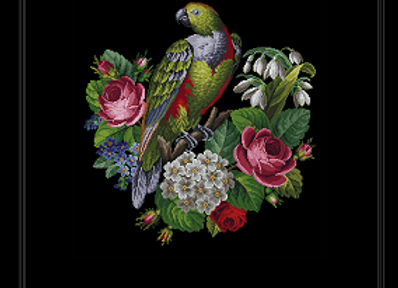 Parrot on Flowers