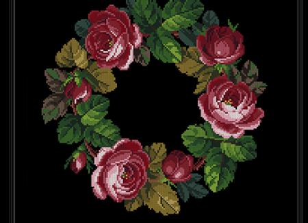 Antique Wreath  Roses Bouquet