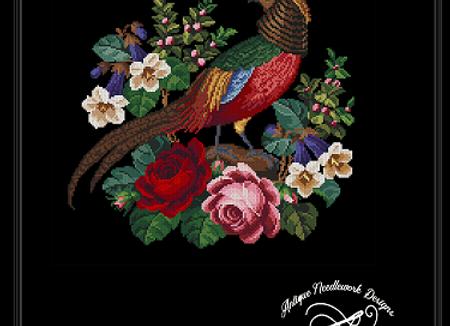 Antique golden pheasant
