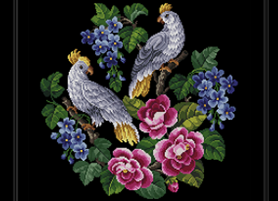 Floral Two  Cockatoo