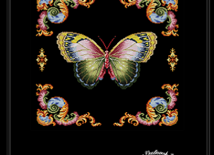 Antique 19th Century Butterfly