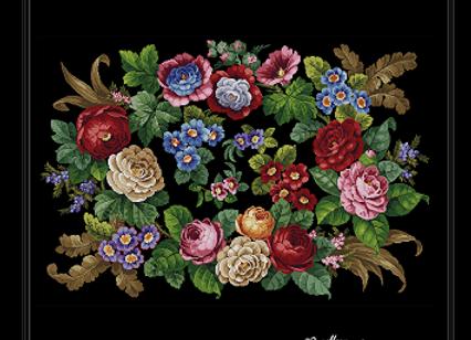 Antique Floral Rug