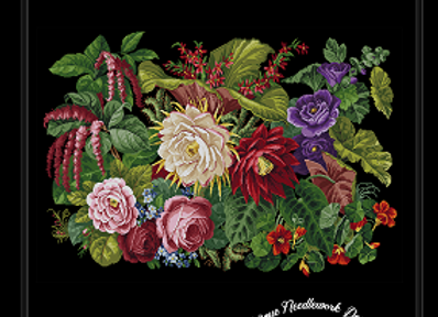 Victorian Floral Tapestry Rug