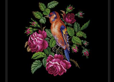 Roses and Bird Scenes