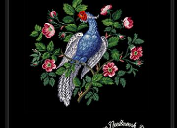 Berlin  Woolwork Silver Pheasant