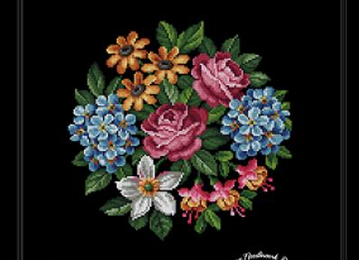 Hydrangea,Roses,Fuchsia and Daisy