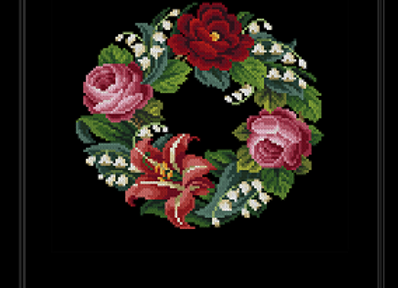 Lily of the Valley and Roses Wreath
