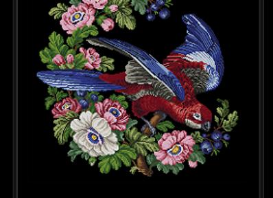 Parrot Amidst Flowers