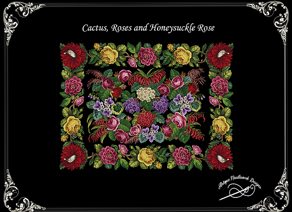 Cactus, Roses and Honeysuckle Rose