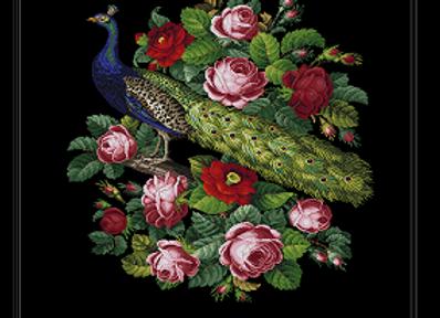 Berlin Pattern - Peacock & Roses