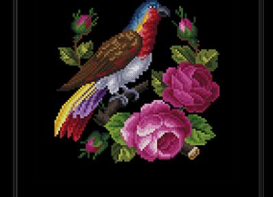 Roses & Falcon
