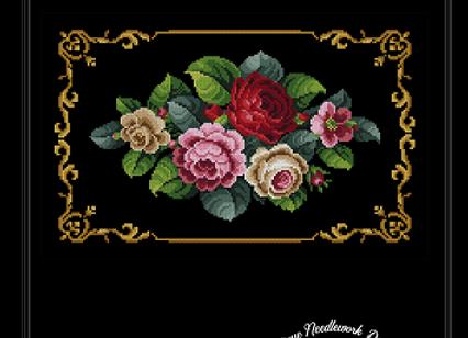 Antique Berlin Roses Bouquet