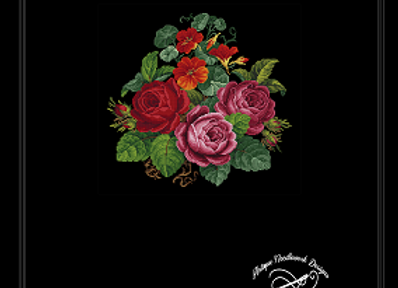 Nasturtium and Rose Bouquet